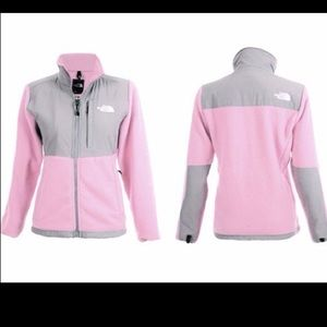 EUC Denali The North Face M fleece pink & gray